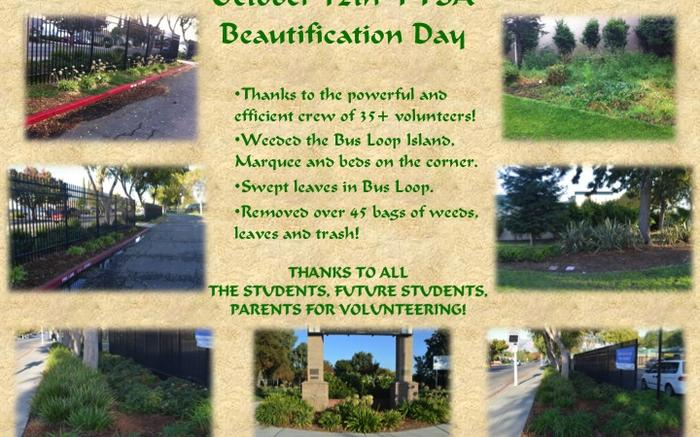 10/12 Beautification Thank You!