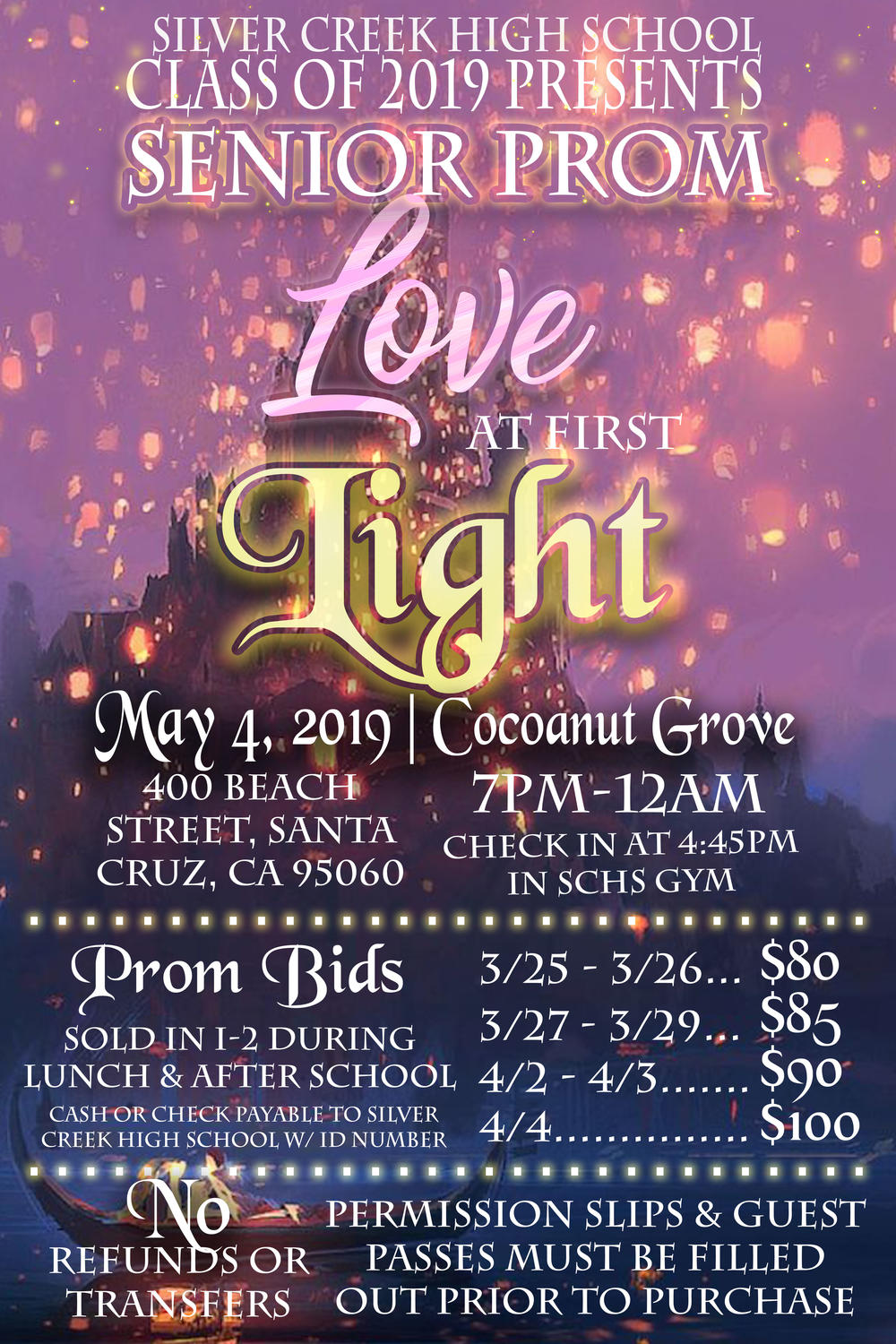 Information about SCHS s 2019 Senior Prom
