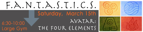 F.A.N.T.A.S.T.I.C.S. - Saturday, March 15, 2014