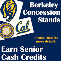 Senior Cash Credits: UC Berkeley Concessions