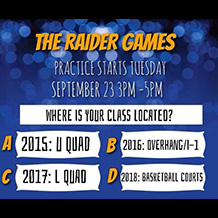 The Raider Games: Practice starts Tuesday, September 23, 2014